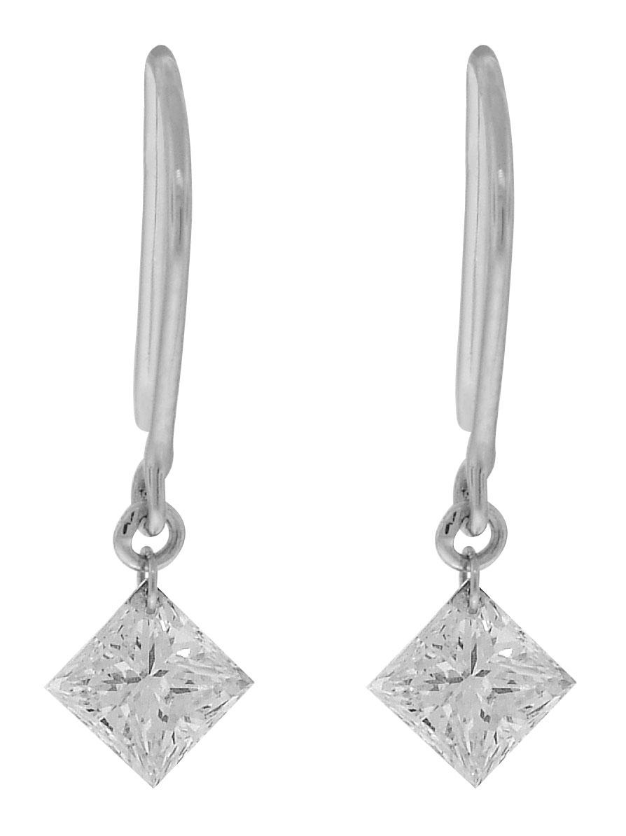 Ladies Diamond 2=110tw 14k Earrings Rose, White, Or Yellow Gold